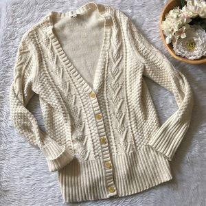 Gap Cream Knit Cardigan